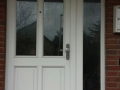 White front door before