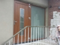 Main door with side glass unit after